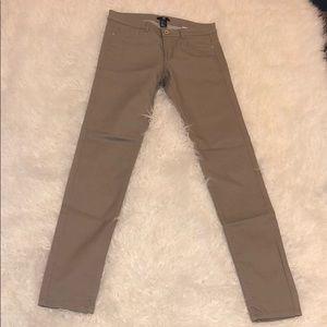 H&M Khaki Skinny Jeans